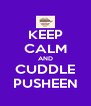KEEP CALM AND CUDDLE PUSHEEN - Personalised Poster A4 size