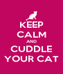 KEEP CALM AND CUDDLE YOUR CAT - Personalised Poster A4 size