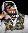 KEEP CALM AND CUDI ON - Personalised Poster A4 size