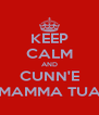 KEEP CALM AND CUNN'E MAMMA TUA - Personalised Poster A4 size