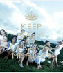 KEEP CALM AND CURTA AS MISIRICAS - Personalised Poster A4 size