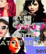 KEEP CALM AND CURTE DEMI LOVATO E SELENA GOMEZ - Personalised Poster A4 size