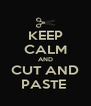 KEEP CALM AND CUT AND PASTE  - Personalised Poster A4 size