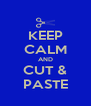 KEEP CALM AND CUT & PASTE - Personalised Poster A4 size