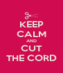 KEEP CALM AND CUT THE CORD - Personalised Poster A4 size