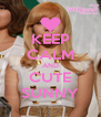 KEEP CALM AND CUTE SUNNY - Personalised Poster A4 size