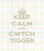 KEEP CALM AND CWTCH TIGGER - Personalised Poster A4 size