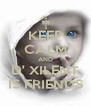 KEEP CALM AND D' XILENT IS FRIENDS - Personalised Poster A4 size