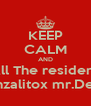 KEEP CALM AND Dale like a All The resident Evil Games Gonzalitox mr.Death - Personalised Poster A4 size