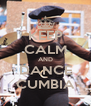 KEEP CALM AND DANCE CUMBIA - Personalised Poster A4 size