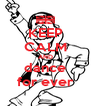 KEEP CALM AND dance for ever - Personalised Poster A4 size
