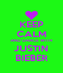 KEEP CALM AND DANCE WITH JUSTIN BIEBER - Personalised Poster A4 size