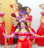 KEEP CALM AND Dance with WARDA BAIDA - Personalised Poster A4 size