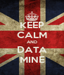 KEEP CALM AND DATA MINE - Personalised Poster A4 size