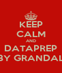 KEEP CALM AND DATAPREP BY GRANDAL - Personalised Poster A4 size