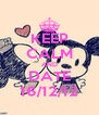 KEEP CALM AND DATE 16/12/12 - Personalised Poster A4 size