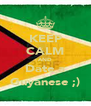 KEEP CALM AND Date a Guyanese ;) - Personalised Poster A4 size