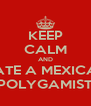 KEEP CALM AND DATE A MEXICAN POLYGAMIST - Personalised Poster A4 size