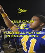 KEEP CALM AND DATE A SU  FOOTBALL PLAYER IN ENGINEERING - Personalised Poster A4 size