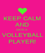 KEEP CALM AND DATE A  VOLLEYBALL PLAYER! - Personalised Poster A4 size