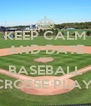 KEEP CALM AND DATE AND BASEBALL LACROSSE PLAYERS - Personalised Poster A4 size