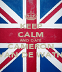 KEEP CALM AND DATE CAMERON VAN DE WATH - Personalised Poster A4 size