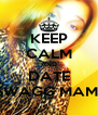 KEEP CALM AND DATE SWAGG MAMI - Personalised Poster A4 size