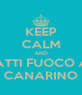 KEEP CALM AND DATTI FUOCO AL CANARINO - Personalised Poster A4 size