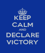 KEEP CALM AND DECLARE VICTORY - Personalised Poster A4 size