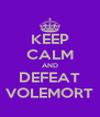 KEEP CALM AND DEFEAT VOLEMORT - Personalised Poster A4 size