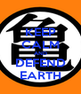 KEEP CALM AND DEFEND EARTH - Personalised Poster A4 size