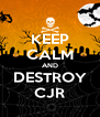 KEEP CALM AND DESTROY CJR - Personalised Poster A4 size