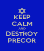 KEEP CALM AND DESTROY PRECOR - Personalised Poster A4 size