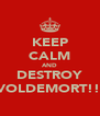 KEEP CALM AND DESTROY VOLDEMORT!!  - Personalised Poster A4 size