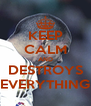 KEEP CALM AND DESTROYS EVERYTHING - Personalised Poster A4 size