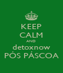 KEEP CALM AND detoxnow PÓS PÁSCOA - Personalised Poster A4 size