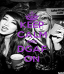 KEEP CALM AND DGAF ON - Personalised Poster A4 size