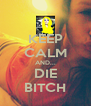 KEEP CALM AND... DIE BITCH - Personalised Poster A4 size