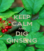 KEEP CALM AND DIG GINSENG - Personalised Poster A4 size