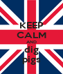 KEEP CALM AND dig pigs - Personalised Poster A4 size