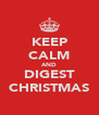 KEEP CALM AND DIGEST CHRISTMAS - Personalised Poster A4 size