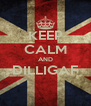 KEEP CALM AND DILLIGAF  - Personalised Poster A4 size