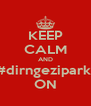 KEEP CALM AND #dirngeziparkı ON - Personalised Poster A4 size