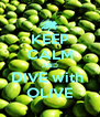 KEEP CALM AND DIVE with  OLIVE - Personalised Poster A4 size