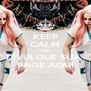 KEEP CALM AND DIVULGUE SUA  PAGE AQUI - Personalised Poster A4 size