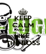 KEEP CALM AND DJ  LIKE  THE BOSS - Personalised Poster A4 size