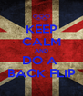 KEEP CALM AND DO A  BACK FLIP - Personalised Poster A4 size