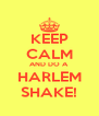 KEEP CALM AND DO A HARLEM SHAKE! - Personalised Poster A4 size