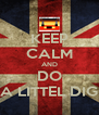 KEEP CALM AND DO A LITTEL DIG - Personalised Poster A4 size