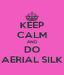 KEEP CALM AND DO AERIAL SILK - Personalised Poster A4 size